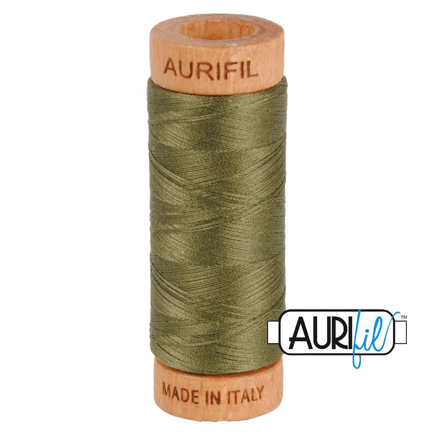 Aurifil Cotton 80wt, 2905 Army Green