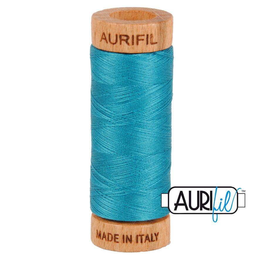 Aurifil Cotton 80wt, 4182 Dark Turquoise