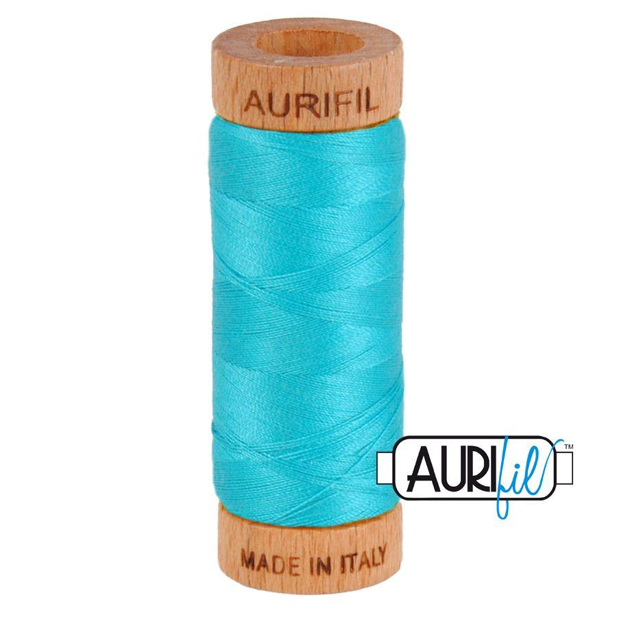 Aurifil Cotton 80wt, 2810 Turquoise