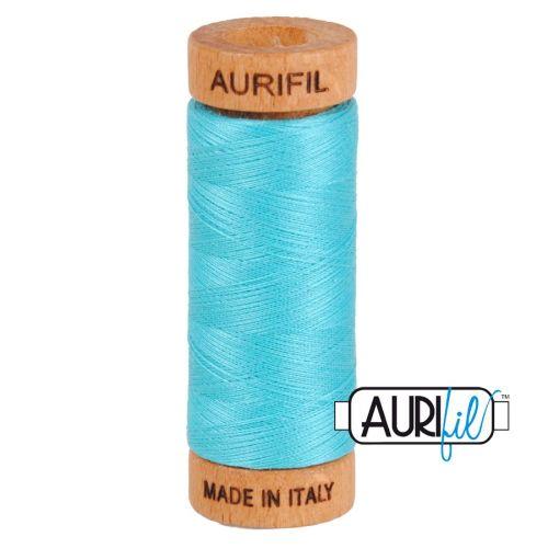 Aurifil Cotton 80wt, 5005 Bright Turquoise