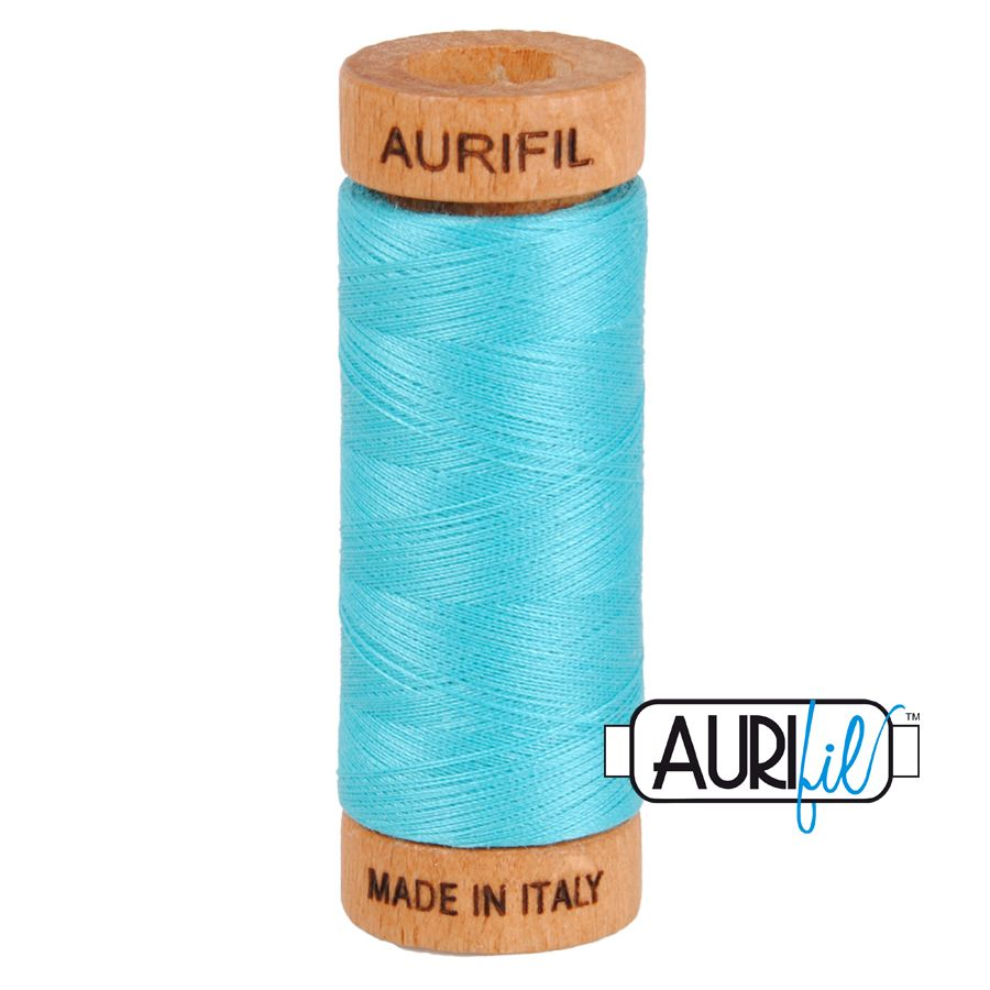 Aurifil Cotton 80wt, 5005 Bright Turquoise