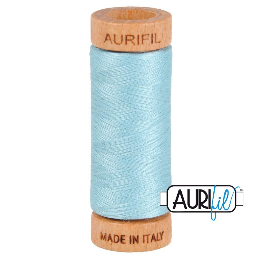 Aurifil Cotton 80wt, 2805 Light Grey Turquoise