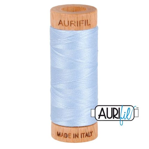 Aurifil Cotton 80wt, 2710 Light Robins Egg