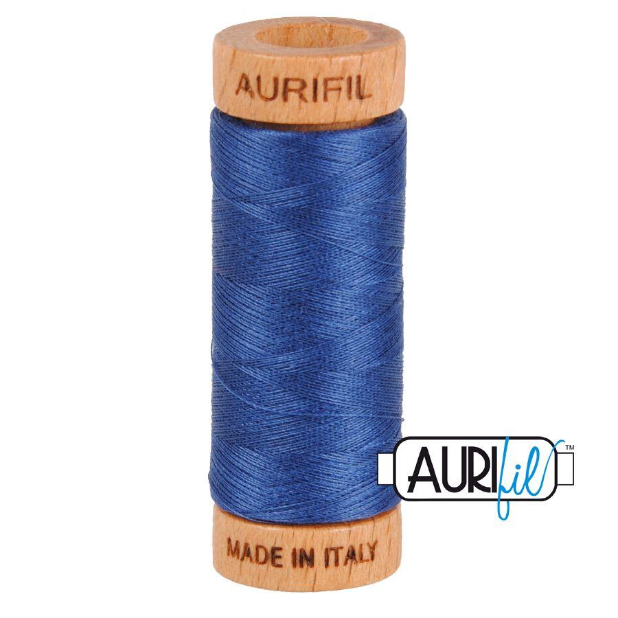 Aurifil Cotton 80wt, 2775 Steel Blue