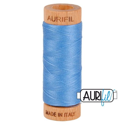 Aurifil Cotton 80wt, 2725 Light Wedgewood