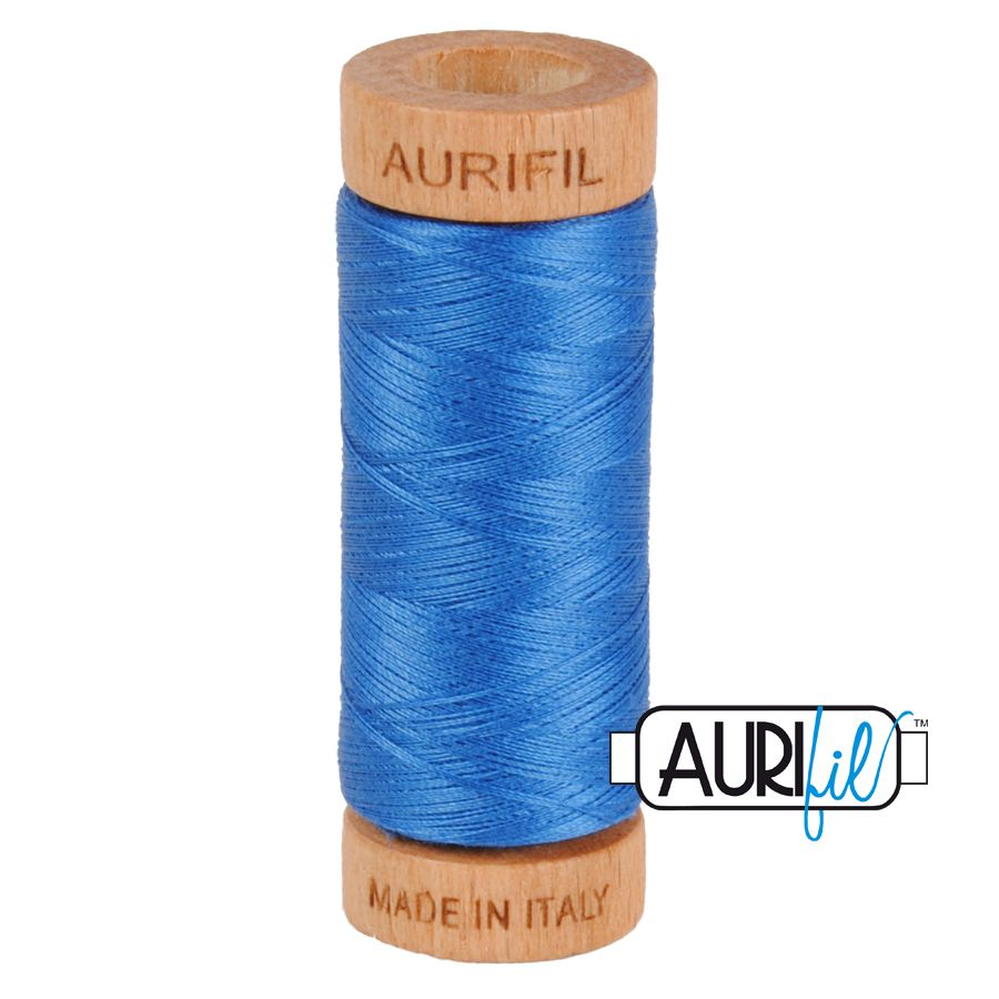 Aurifil Cotton 80wt, 2730 Delft Blue
