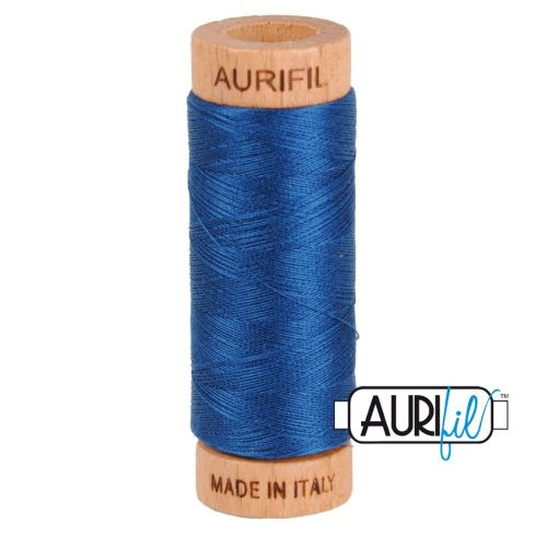 Aurifil Cotton 80wt, 2783 Medium Delft Blue