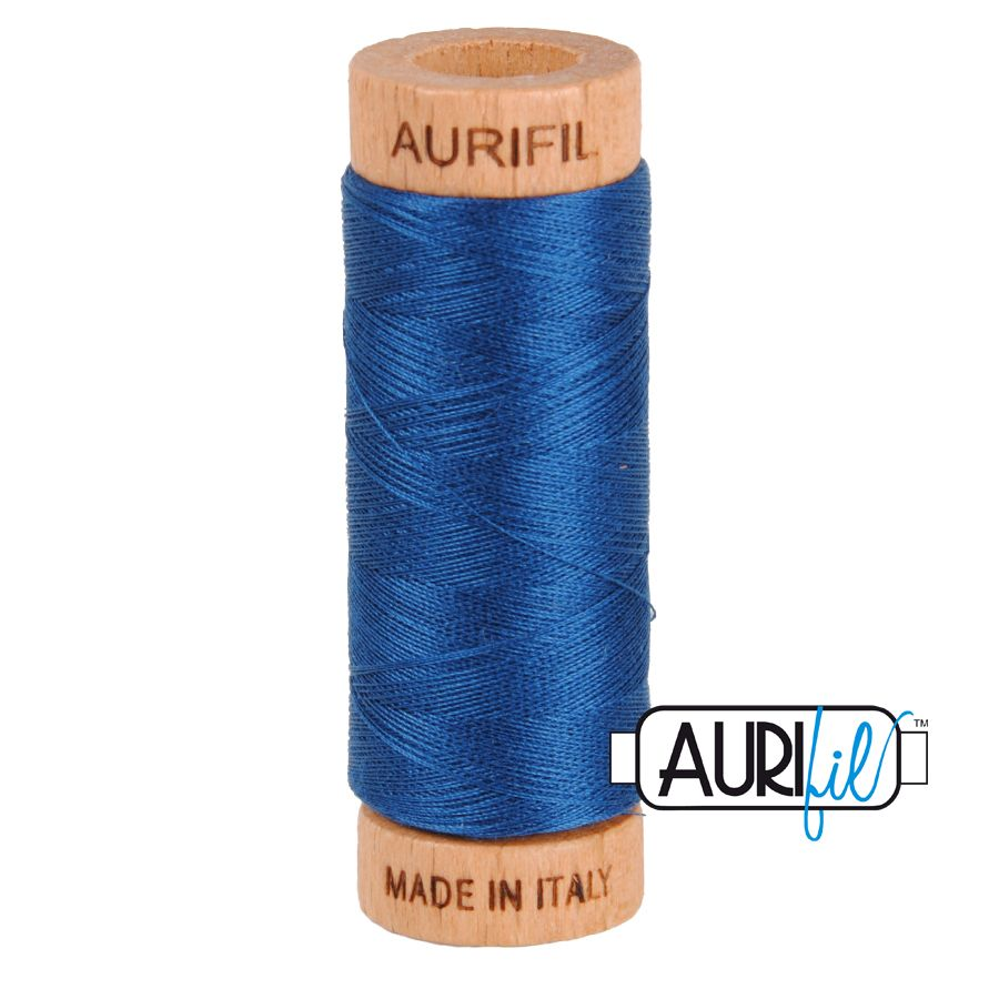 Aurifil Cotton 80wt, 2783 Medium Delft Blue