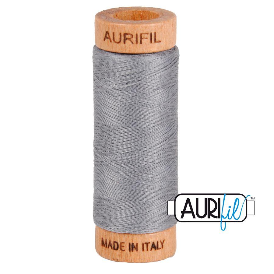 Aurifil Cotton 80wt, 2605 Grey