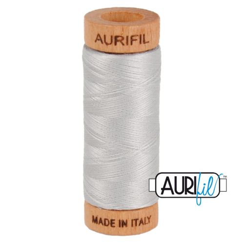 Aurifil Cotton 80wt, 2615 Aluminium