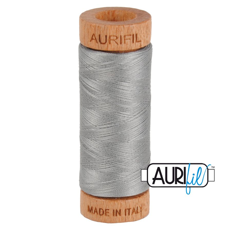 Aurifil Cotton 80wt, 2620 Stainless Steel