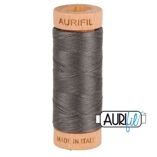 Aurifil Cotton 80wt, 2630 Dark Pewter