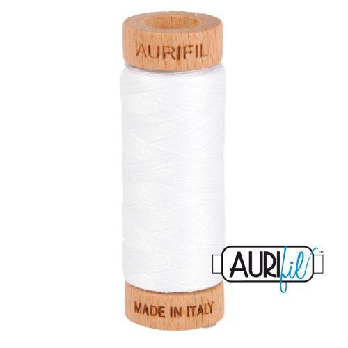 Aurifil Cotton 80wt, 2024 White