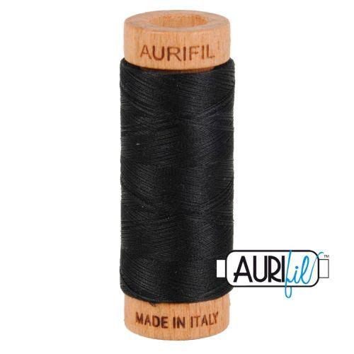 Aurifil Cotton 80wt, 2692 Black