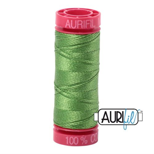 Aurifil Cotton 12wt, 1114 Grass Green