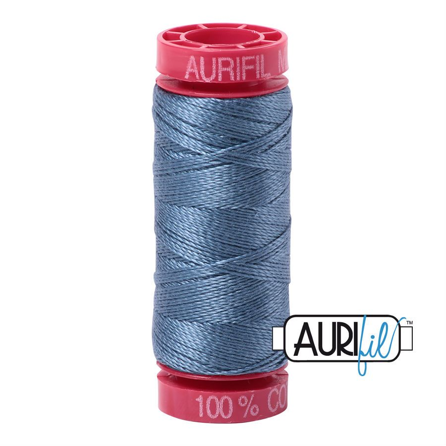 Aurifil Cotton 12wt, 1126 Blue Grey