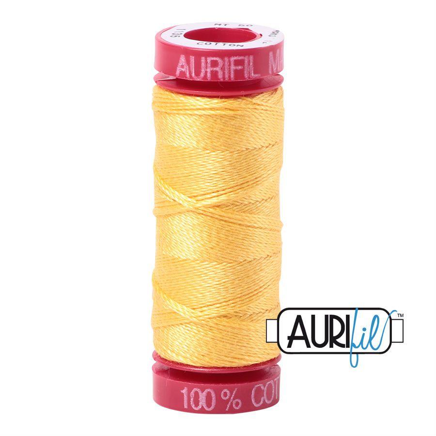 Aurifil Cotton 12wt, 1135 Pale Yellow