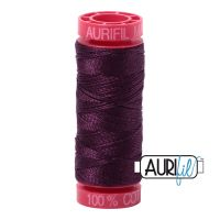 Aurifil Cotton 12wt, 1240 Very Dark Eggplant