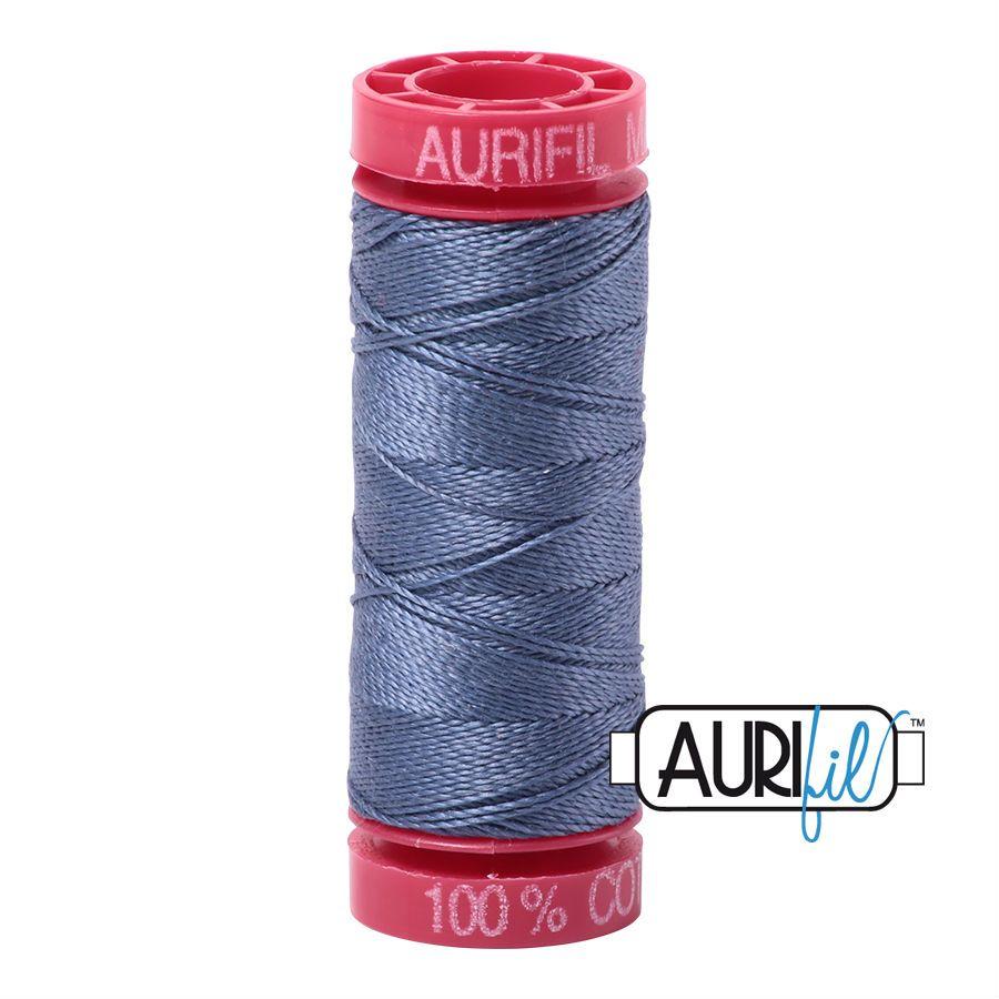 Aurifil Cotton 12wt, 1248 Dark Grey Blue
