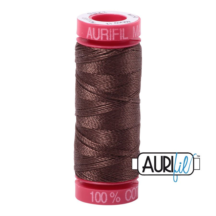 Aurifil Cotton 12wt, 1285 Medium Bark