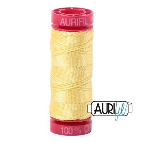 Aurifil Cotton 12wt, 2115 Lemon