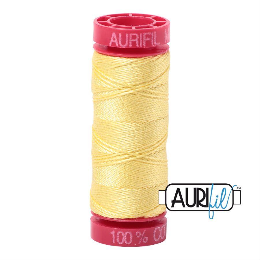 Aurifil Cotton 12wt, 2115 Lemon