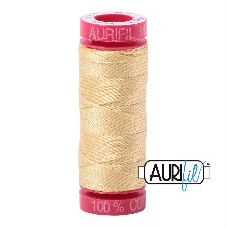 Aurifil Cotton 12wt, 2125 Wheat