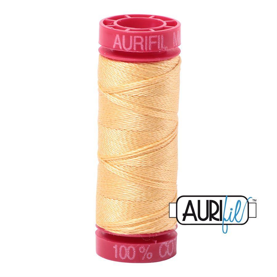 Aurifil Cotton 12wt, 2130 Medium Butter