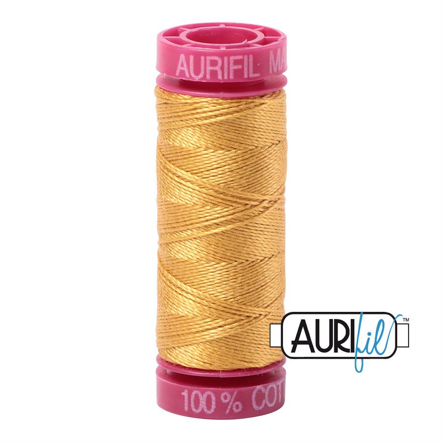Aurifil Cotton 12wt, 2132 Tarnished Gold