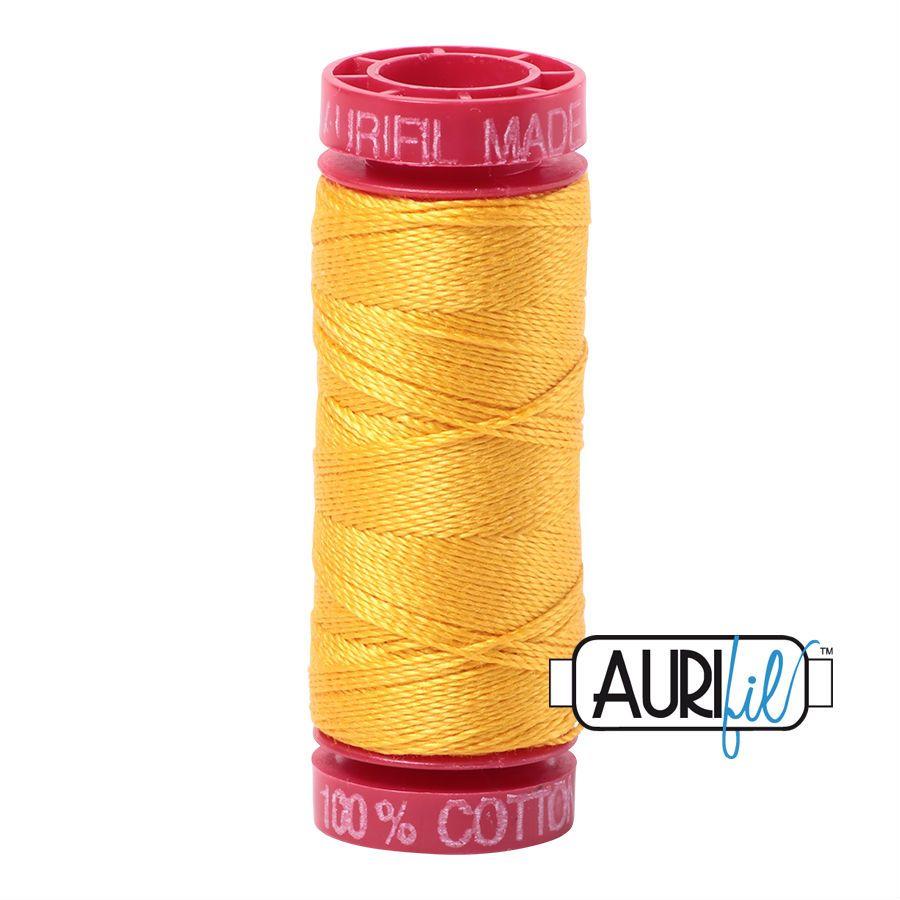 Aurifil Cotton 12wt, 2135 Yellow