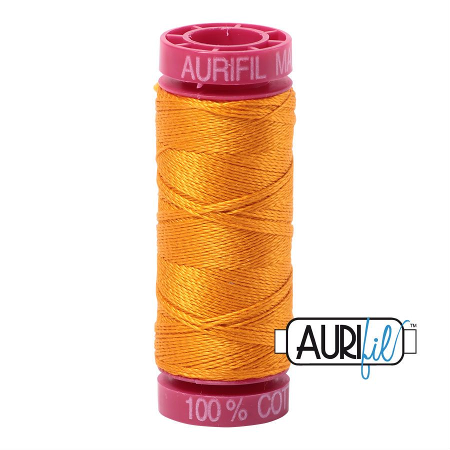 Aurifil Cotton 12wt, 2145 Yellow Orange