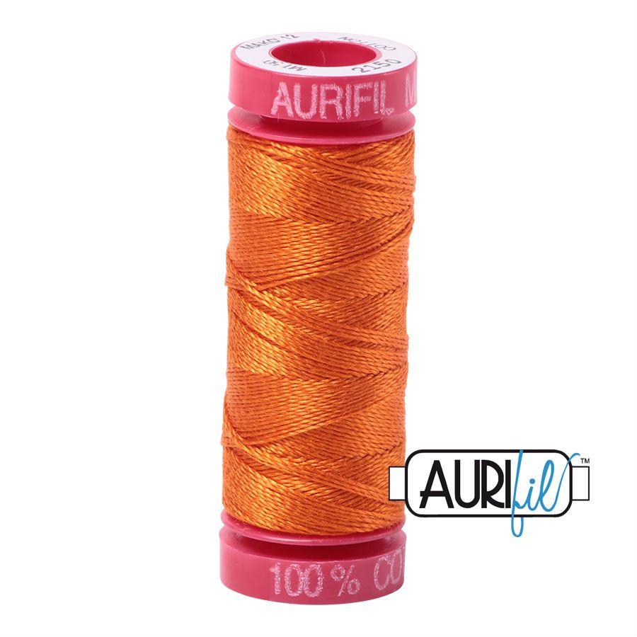 Aurifil Cotton 12wt, 2150 Pumpkin