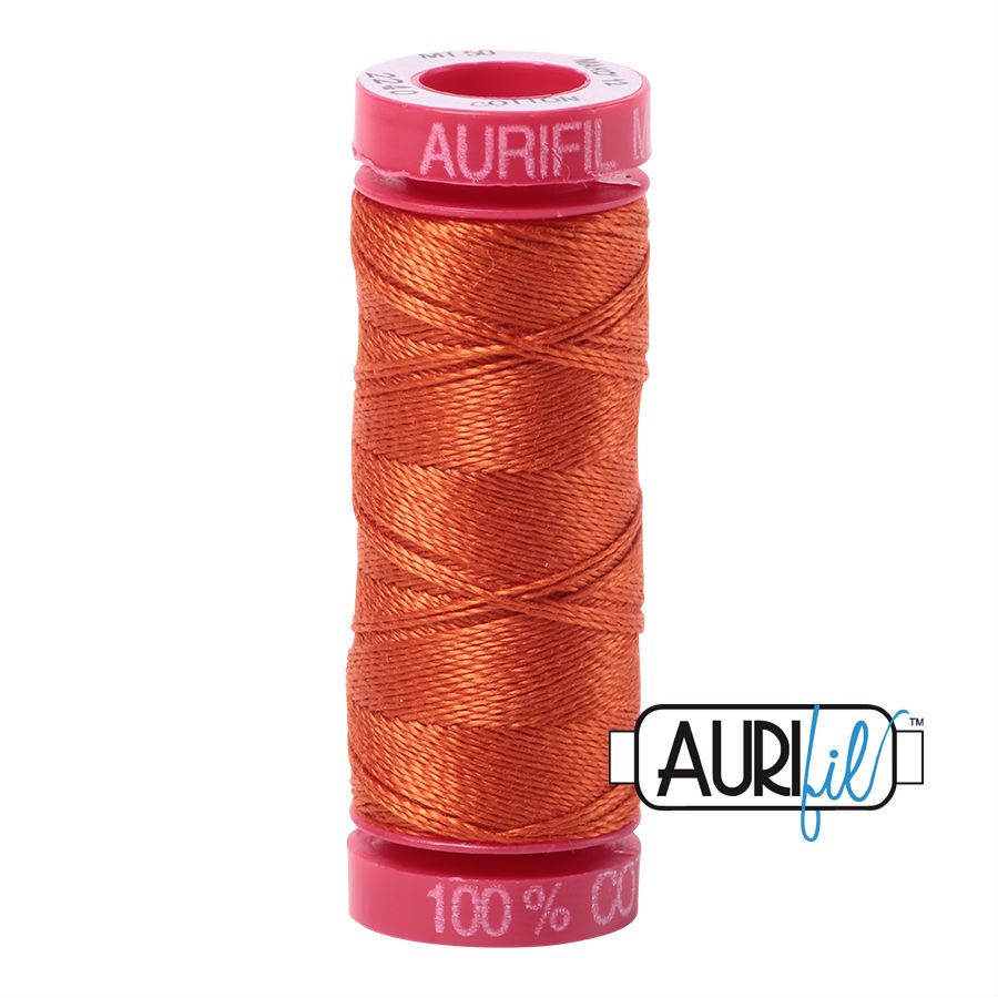 Aurifil Cotton 12wt, 2240 Rusty Orange