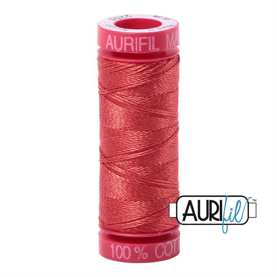 Aurifil Cotton 12wt, 2255 Dark Red Orange