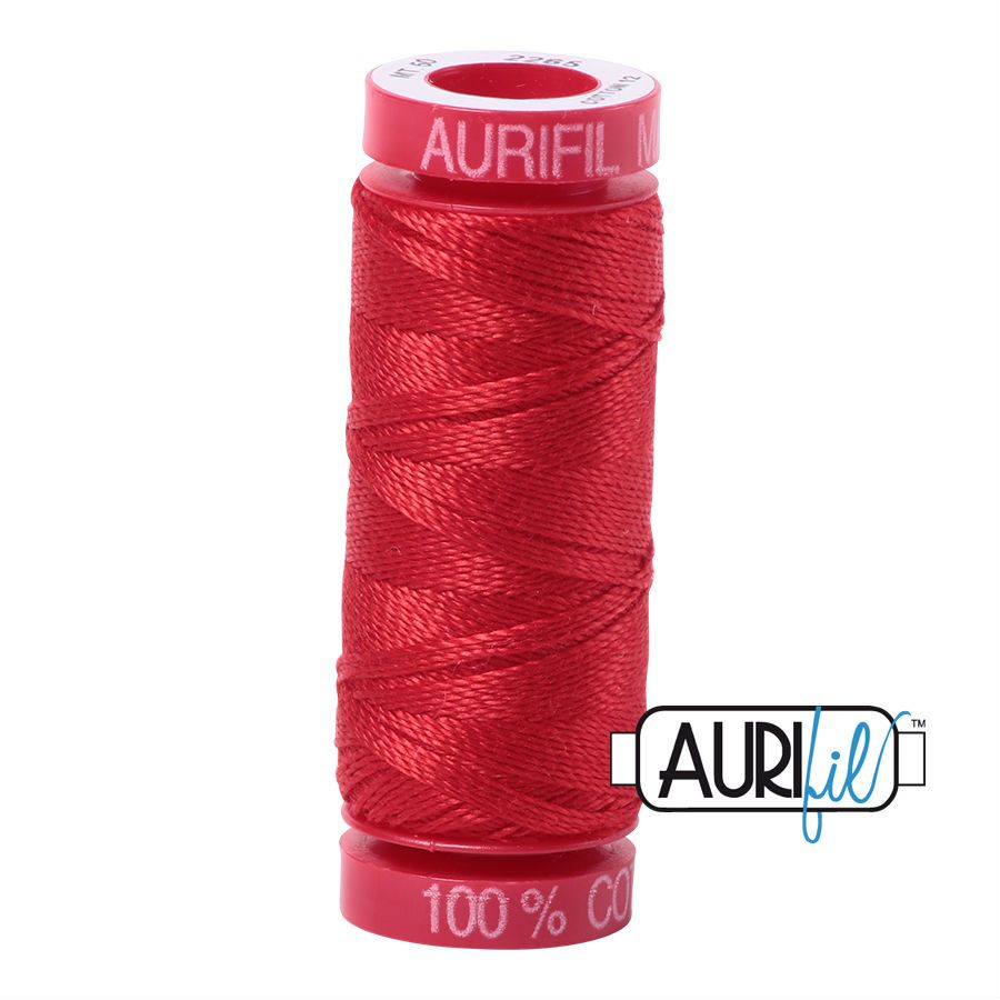 Aurifil Cotton 12wt, 2265 Lobster Red