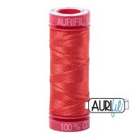Aurifil Cotton 12wt, 2277 Light Red Orange
