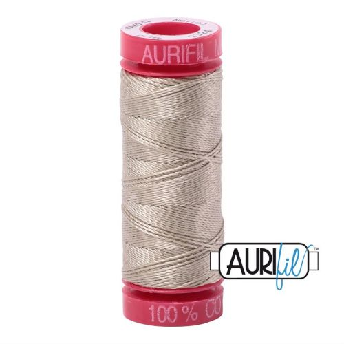 Aurifil Cotton 12wt, 2324 Stone