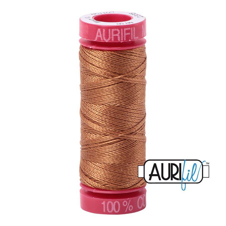 Aurifil Cotton 12wt, 2335 Light Cinnamon