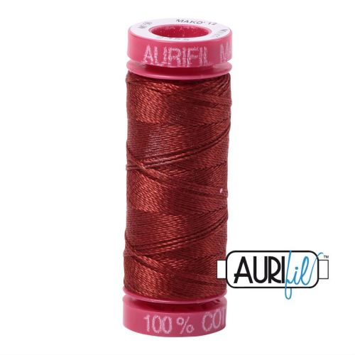 Aurifil Cotton 12wt, 2355 Rust
