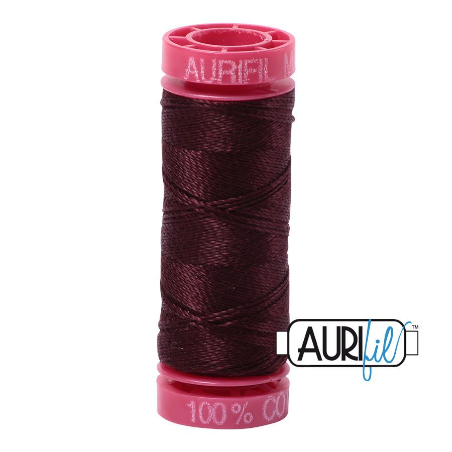 Aurifil Cotton 12wt, 2468 Dark Wine