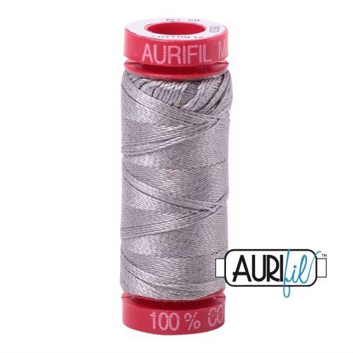 Aurifil Cotton 12wt, 2620 Stainless Steel