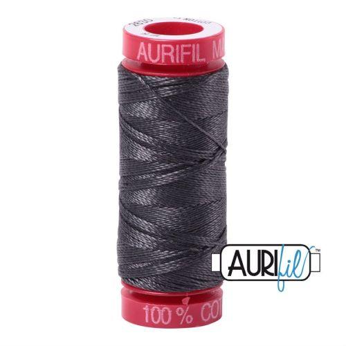 Aurifil Cotton 12wt, 2630 Dark Pewter