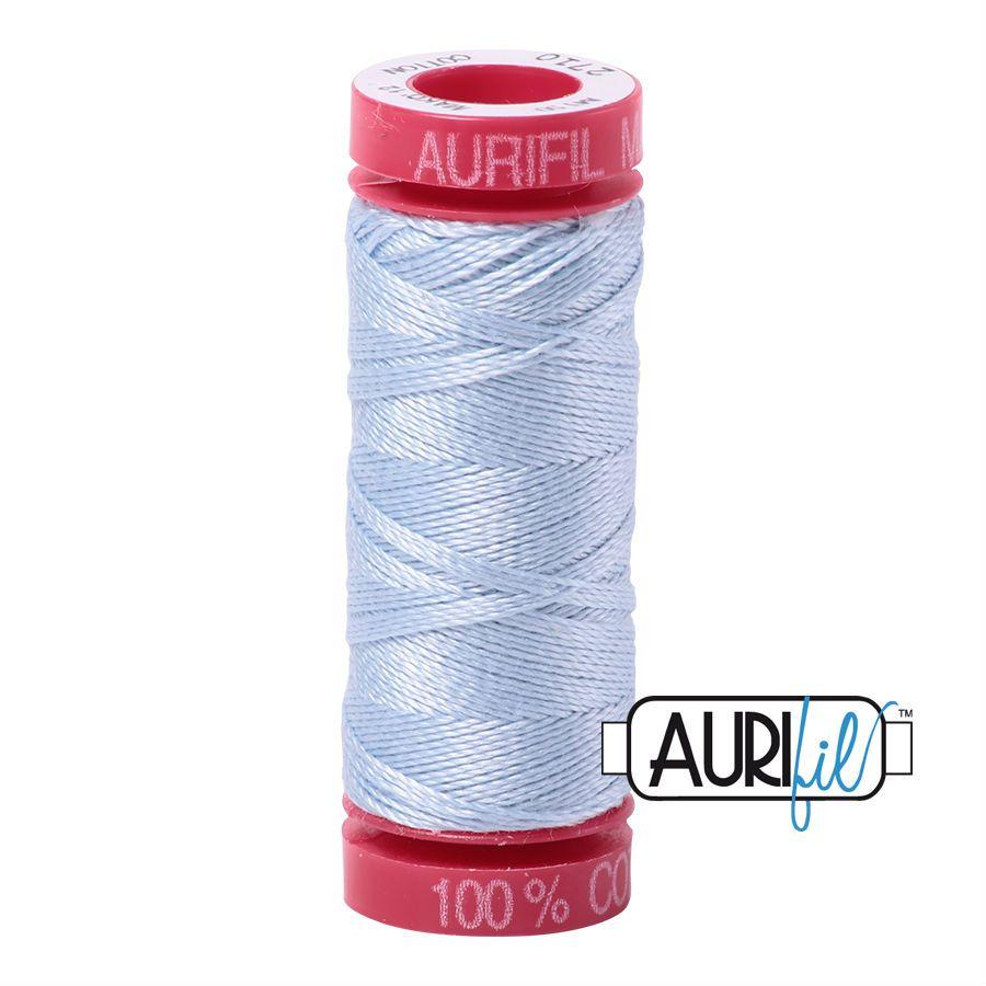 Aurifil Cotton 12wt, 2710 Light Robins Egg