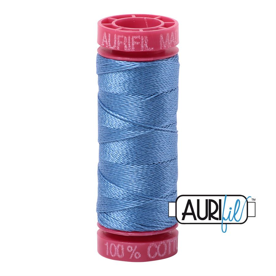 Aurifil Cotton 12wt, 2725 Light Wedgewood