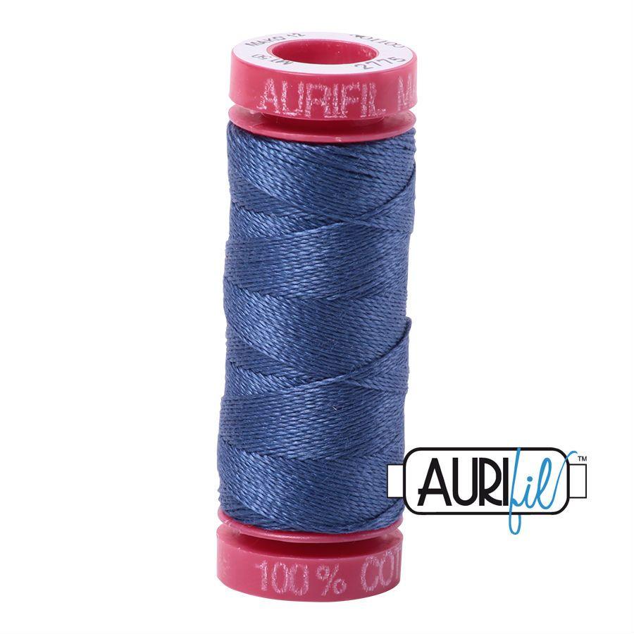 Aurifil Cotton 12wt, 2775 Steel Blue