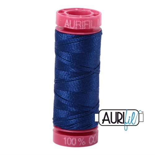 Aurifil Cotton 12wt, 2780 Dark Delft Blue