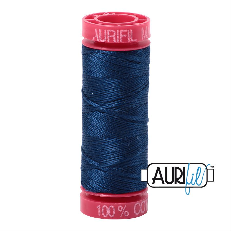 Aurifil Cotton 12wt, 2783 Medium Delft Blue