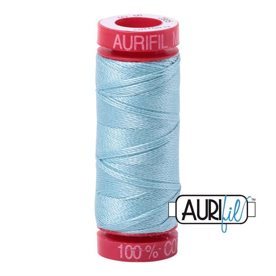 Aurifil Cotton 12wt, 2805 Light Grey Turquoise