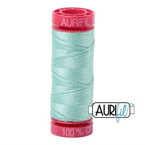 Aurifil Cotton 12wt, 2835 Medium Mint