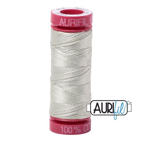 Aurifil Cotton 12wt, 2843 Light Grey Green